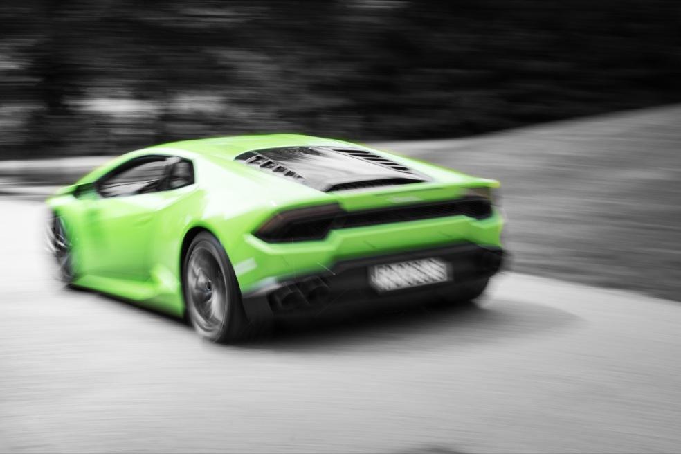 Lamborghini Huracan grün Mitzieher Wallpaper