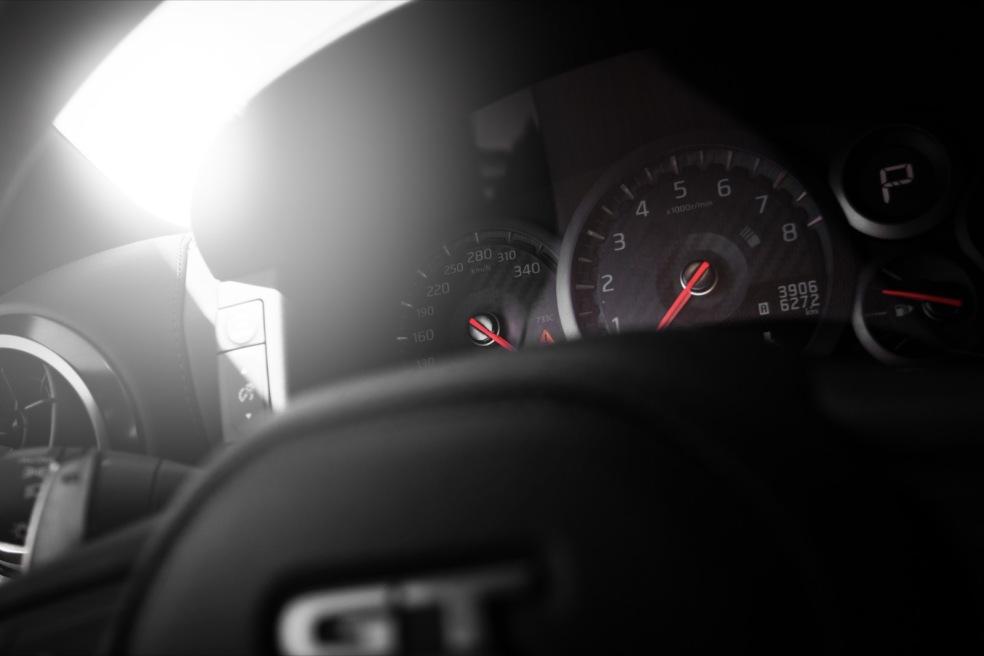 Nissan GTR 2017 Cockpit Lenkrad