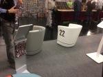 Sessel im Porsche Design auf der Retro Classics Bavaria Messe