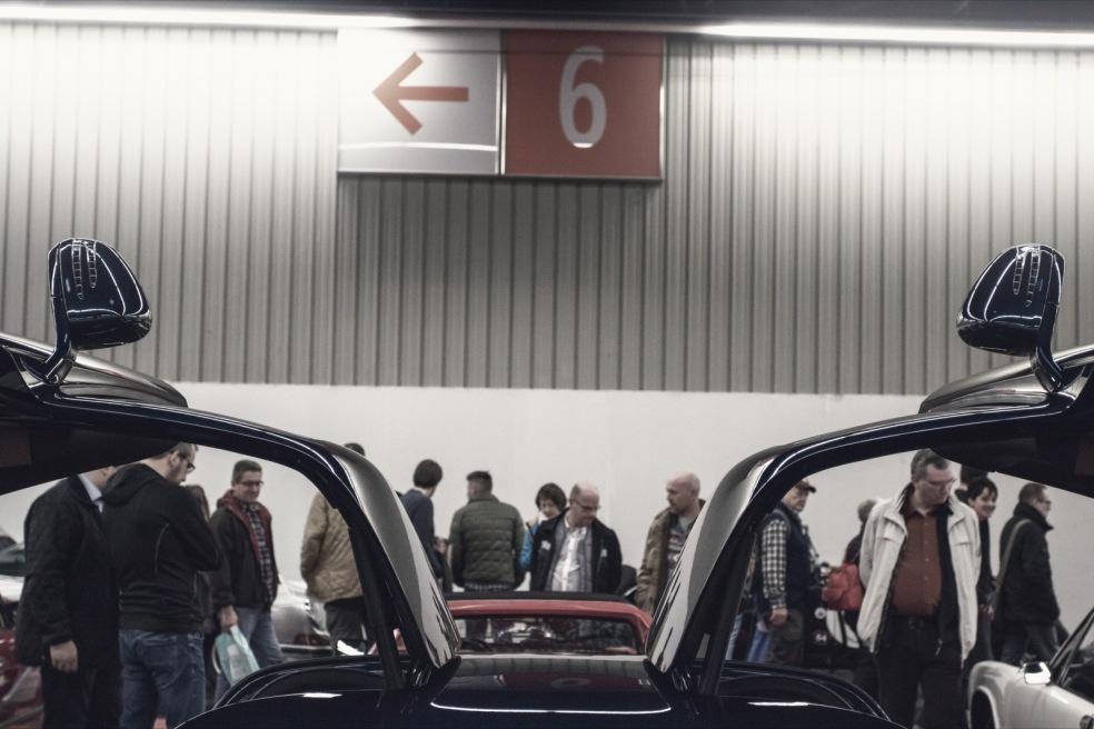 Mercedes SLS Amg auf der Retrco Classics Bavaria
