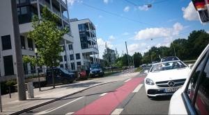 Mercedes Kolonne durch Nürnberg