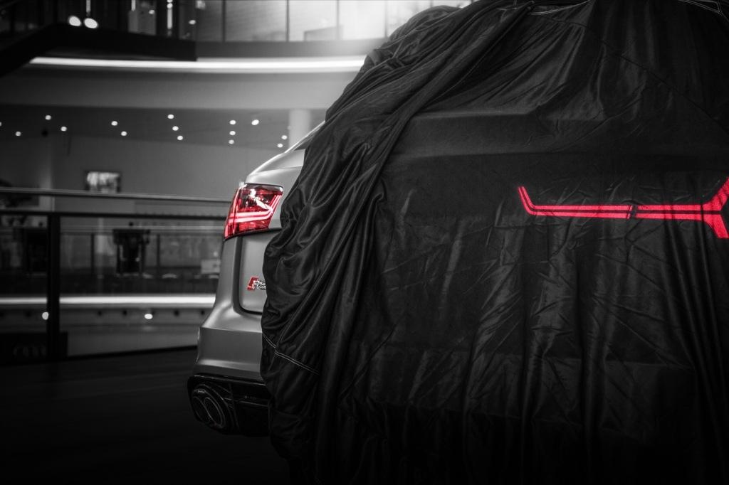 Audi RS6 graumatt hinten Wallpaper
