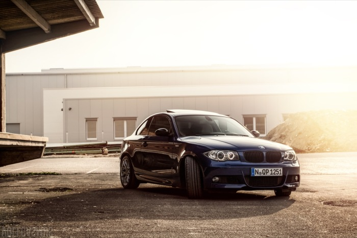 BMW 125 Coupe Sonnenuntergang Wallpaper