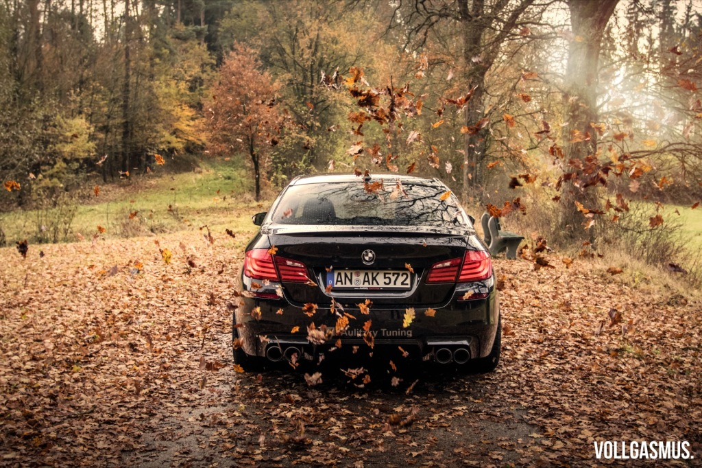 BMW M5 Aulitzky Tuning Herbstbild Wallpaper
