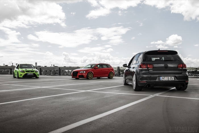 VW Golf GTI Edition 35 Audi RS3 8P Ford Focus RS MKII Tuning Wallpaper