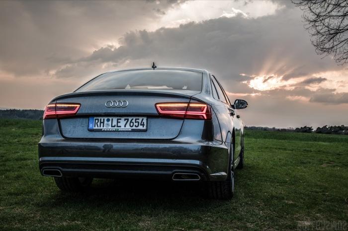 Audi A6 Limousine Daytona Grau Sonnenuntergang Wallpaper