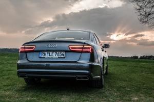 Audi A6 S Line hinten Sonnenuntergang Wallpaper