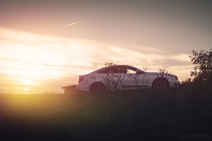 Mercedes C63 AMG GAD Sonnenuntergang Wallpaper