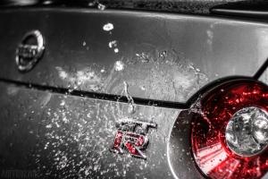 Nissan GTR R35 Logo Wasserspritzer Wallpaper